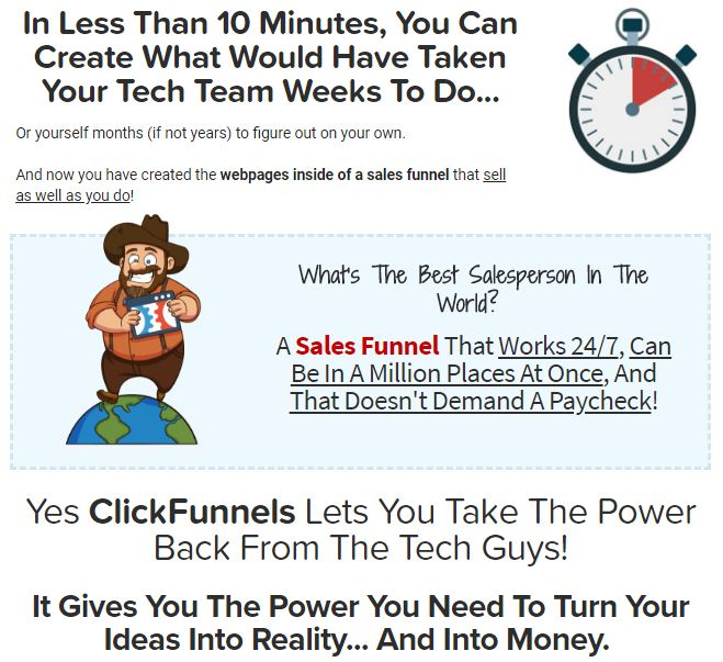 Clickfunnels - Build Sales Funnels in 10 Minutes